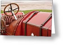 1911 Fiat S61 Steering Wheel Greeting Card
