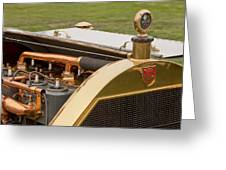 1912 Mercer Model 35 C Raceabout Engine And Motometer Greeting Card