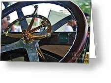1913 Chalmers - Steering Wheel Greeting Card