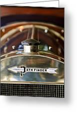 1913 Pathfinder 5-passenger Touring Hood Ornament Greeting Card