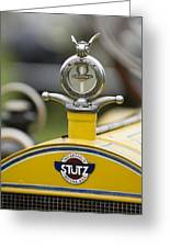 1914 Stutz Series E Bearcat Hood Ornament Greeting Card