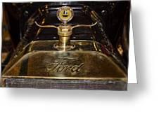 1915 Model-t Ford Hood Ornament Greeting Card