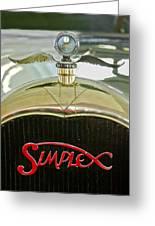 1916 Crane-simplex Model 5 Seven-passenger Touring Hood Ornament Greeting Card