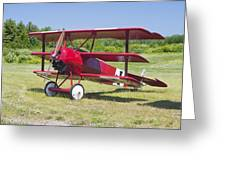 1917 Fokker Dr.1 Triplane Red Barron Canvas Photo Print Poster Greeting Card