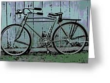 1918 Harley Davidson Bicycle Greeting Card