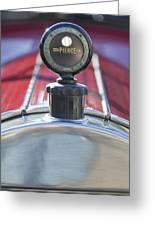 1919 Pierce-arrow Model 48 Dual Valve Roadster Hood Ornament Greeting Card