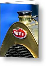 1920 Bugatti Type 13 Grille Emblem Greeting Card