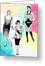 1920s Gals 3 Greeting Card