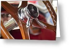1925 Stutz 695 Speedway Sportster Steering Wheel Greeting Card