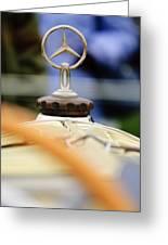 1927 Mercedes-benz S Hood Ornament Greeting Card