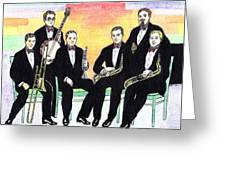 1927 New Yorkers Jazz Band Greeting Card