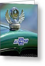 1928 Chevrolet Stake Bed Pickup Hood Ornament Greeting Card