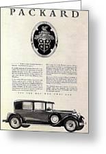 1928 Packard Greeting Card