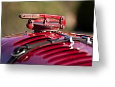 1929 Birkin Blower Bentley Hood Ornament Greeting Card