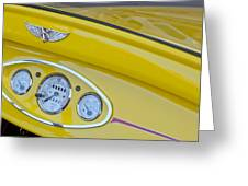 1929 Ford Model A Roadster Dashboard Instruments Greeting Card