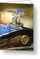 1929 Gardner Series 120 Eight-in-line Roadster Hood Ornament Greeting Card