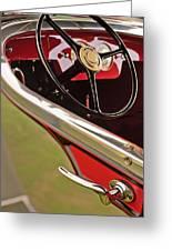 1929 Graham-paige Model 837 Lebaron Sport Phaeton Steering Wheel Greeting Card