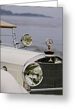 1929 Mercedes-benz S Tourer Hood Ornament Greeting Card