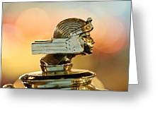 1929 Stutz Series M Four-passenger Dual-cowl Speedster Hood Ornament  Greeting Card