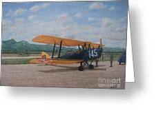 1930's Tiger Moth Aircraft - Aeronave Forca Aerea Portuguesa Greeting Card