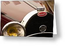 1931 Bugatti Type 55 Roadster Grille Emblem Greeting Card