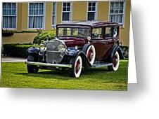 1931 Cadillac V12 Greeting Card