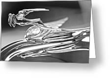 1931 Chrysler Cg Imperial Roadster Hood Ornament 2 Greeting Card