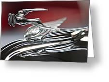 1931 Chrysler Cg Imperial Roadster Hood Ornament Greeting Card