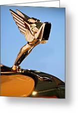 1931 Cord L-29 Legrande Speedster Hood Ornament 5 Greeting Card