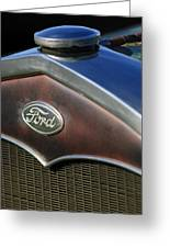 1931 Ford Grille Emblem Greeting Card