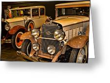 1931 La Salle Series 345r And 1929 Packard Roadster Greeting Card