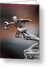 1931 Packard Deluxe Eight Roadster Hood Ornament Greeting Card