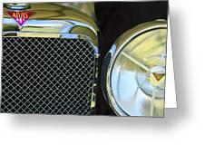 1932 Alvis-6 Speed 20 Sa Grille Emblem Greeting Card