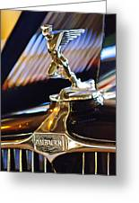 1932 Auburn V-12 Speedster Hood Ornament Greeting Card