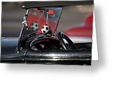 1932 Ford Roadster Fuzzy Dice Greeting Card
