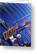 1932 Ford Taillight License Plate Greeting Card