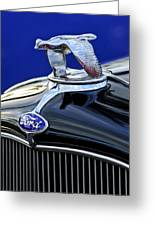 1932 Ford V8 Hood Ornament Greeting Card