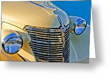 1933 Chevrolet Grille And Headlights Greeting Card