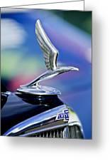 1933 Chevrolet Master Six Eagle Sedan Hood Ornament Greeting Card