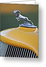 1933 Dodge Ram Hood Ornament Greeting Card