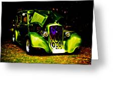 1933 Plymouth Hot Rod Greeting Card