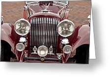 1934 Bentley 3.5-litre Drophead Coupe Grille Greeting Card