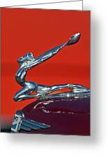 1934 Buick Series 50 Goddess Hood Ornament Greeting Card