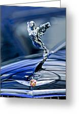 1934 Cadillac V-16 452 Two-passenger Stationary Coupe Hood Ornament And Emblem Greeting Card