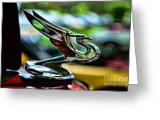 1934 Chevrolet Flying Eagle Hood Ornament - 2 Greeting Card