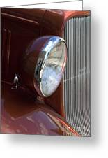 1934 Ford Headlight And Grill Greeting Card