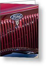 1934 Ford V8 Emblem 2 Greeting Card