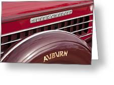 1935 Auburn Emblem Greeting Card