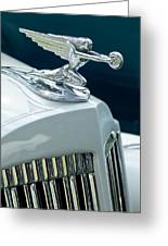 1935 Packard Sedan Hood Ornament Greeting Card