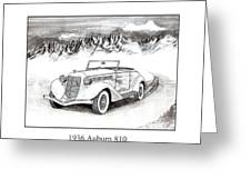 1936 Auburn 810 Greeting Card by Jack Pumphrey
